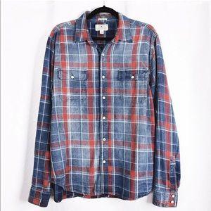 Lucky Brand Men's Axe Indigo 2 Pocket Shirt Size L